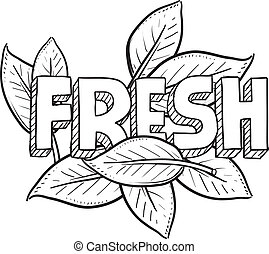 Fresh food sketch - Doodle style fresh food or agriculture...