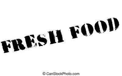 Fresh food stamp rubber grunge