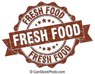 fresh food stamp. sign. seal