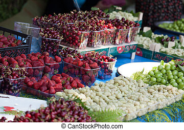 Fresh  Fruit  At A Street Market