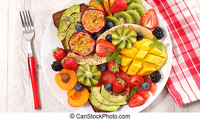 fresh fruit for healthy breakfast or brunch
