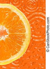 Fresh fruit - Fresh colored orange background