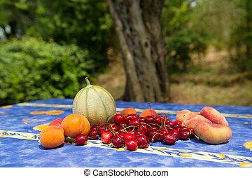 Fresh fruit in France