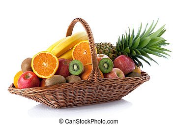 Fresh fruit in the basket