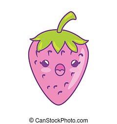 fresh fruit kawaii style isolated icon