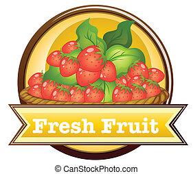 Fresh fruit label