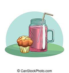 Fresh fruit nutrition healthy background frame