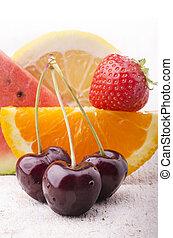 fresh fruit of the season