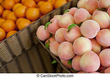 Fresh fruit, peach