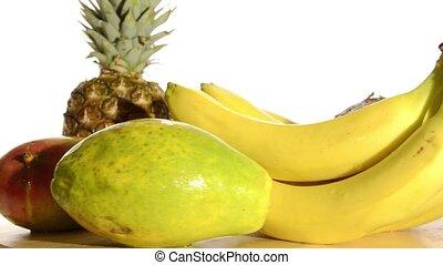 fresh fruit rotating