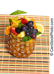 Fresh Fruit Salad in a Pineapple