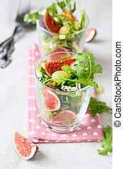 fresh fruit salad with gorgonzola