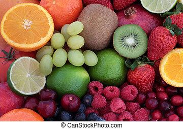 Fresh Fruit Super Food Background
