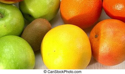 Fresh Fruits, camera dolly