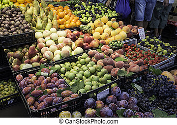 Fresh fruits in a market