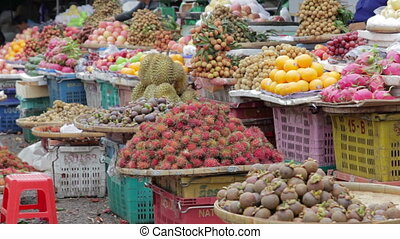 Fresh fruits in asian market