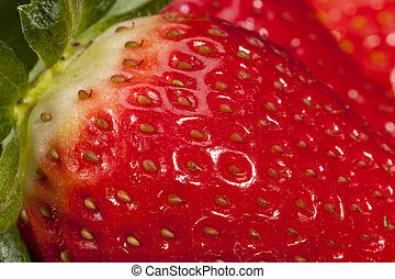 Fresh fruits of red strawberry, close up