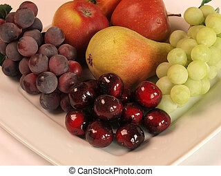 Fresh fruits on a plate