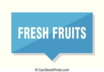 fresh fruits price tag - fresh fruits blue square price tag