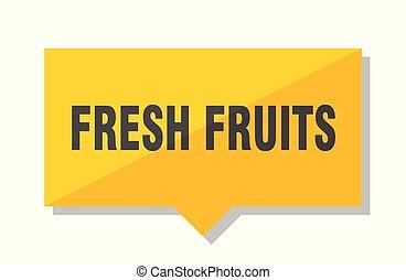 fresh fruits price tag - fresh fruits yellow square price...