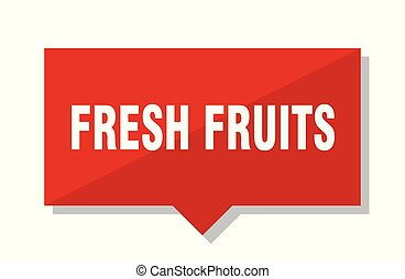 fresh fruits red tag - fresh fruits red square price tag