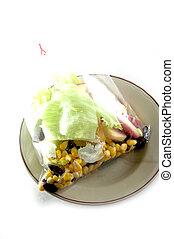 Fresh fruits salad  isolated on white