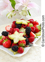 Fresh fruits as dessert with low calorie