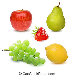 Fresh Fruits. Vector