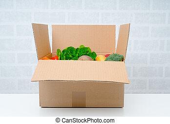 Fresh fruits vegetables.