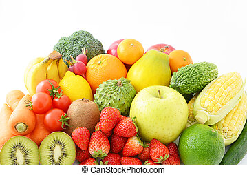 Fresh fruits with vegetables