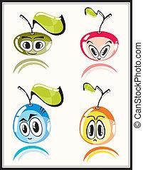 Fresh funny fruits