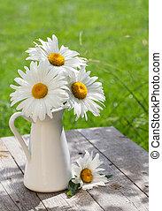 Fresh garden chamomile bouquet