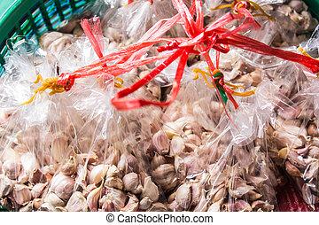 Fresh Garlic in market