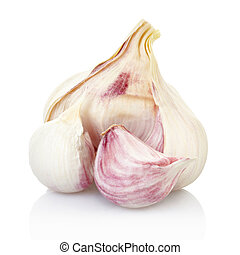 Fresh garlic isolated - Garlic isolated on white, clipping ...
