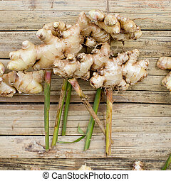 fresh ginger in market