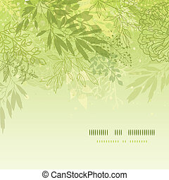 Fresh glowing spring plants square template background -...