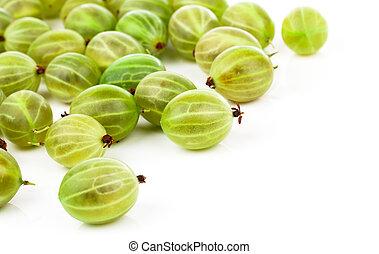 fresh gooseberry isolated on white background