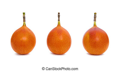 Fresh granadilla isolated on white