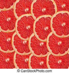 grapefruit and slices background.
