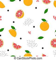 Fresh grapefruit seamless background