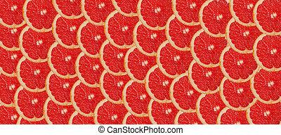grapefruit slices background.