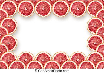 fresh grapefruit slices frame