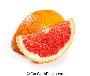 Fresh grapefruit slices