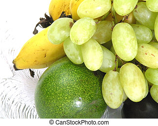 fresh grapes and a fruit