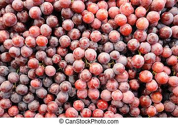 Fresh grapes at market
