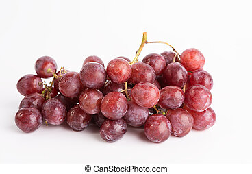 Fresh grapes fruit isolated on white background
