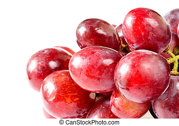 Fresh grapes isolated on white background