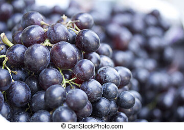 Fresh grapes on the market