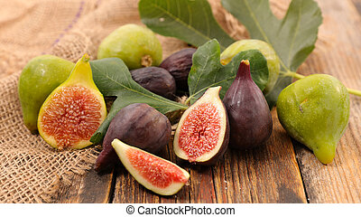 fresh green and black fig