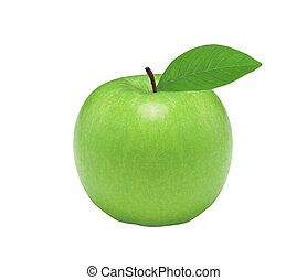 Fresh green apple, isolated on white